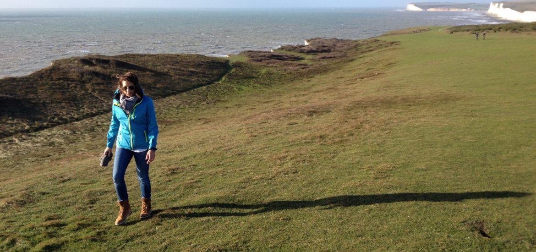 East Dean grün Meer England Kreidefelsen
